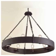 Troy F2504CB Jackson 8-light Wrought Iron Chandelier