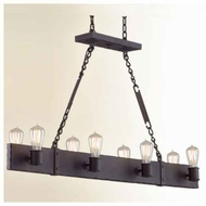 Troy F2506CB Jackson 8-light Wrought Iron Kitchen Island Light