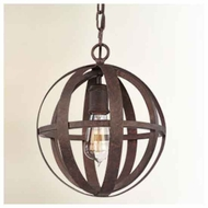 Troy F2511WI Flatiron Wrought Iron Mini Pendant Light