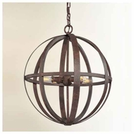 Troy F2514WI Flatiron Small Wrought Iron Pendant Light