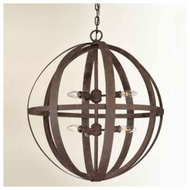 Troy F2516WI Flatiron Medium Wrought Iron Pendant Light