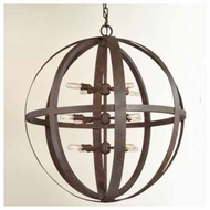 Troy F2518WI Flatiron Large Wrought Iron Pendant Light
