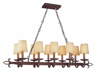 Troy F2718 Lyon 15 Inch Diameter Traditional 10 Light Kitchen Island Lighting