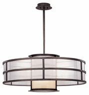 Troy F2737 Discus 32 Inch Diameter Modern Large Graphite Finish Hanging Lamp