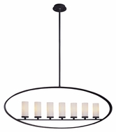 Troy F2808 Eclipse 44 Inch Wide 7 Lamp Modern Kitchen Island Light Fixture - Federal Bronze