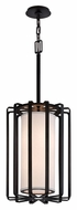 Troy F2813 Drum Small 22 Inch Tall Modern 2 Light Pendant Lamp With Finish Options