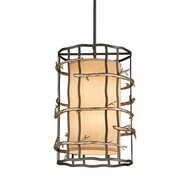 Troy F2884-12-14 Adirondack Hand-Worked Iron Pendant Lighting