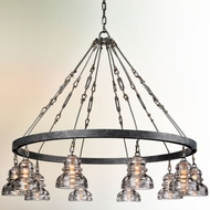Troy F3137-9 Menlo Park Hand-Worked Iron Chandelier Light