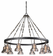 Troy F3137 Menlo Park Old Silver Finish 36.125 Tall Ceiling Chandelier