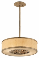 Troy F3155 Serengeti Bronze Leaf Finish 5  Tall Drum Pendant Hanging Light