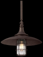 Troy F3229 Allegheny Large 22 Inch Tall Dark Sky Outdoor Hanging Pendant Lamp - Rust Finish