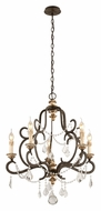 Troy F3515 Bordeaux Small 5 Candle 27 Inch Diameter Hanging Chandelier Light Fixture