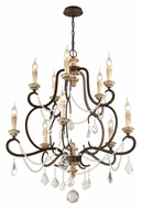 Troy F3516 Bordeaux Medium 32 Inch Diameter 6 Candle Hanging Chandelier