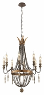 Troy F3535 Delacroix French Bronze Finish 25 Wide Candle Hanging Chandelier