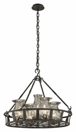Troy F3597 Chianti Small Bronze 25 Inch Diameter 5 Lamp Chandelier Lighting Fixture