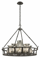 Troy F3598 Chianti Large 6 Lamp 33 Inch Diameter Bronze Lighting Chandelier