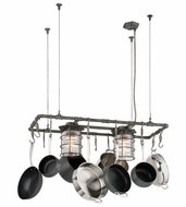 Troy F3798 Brunswick Vintage Aged Pewter Finish 18  Wide Island Lighting