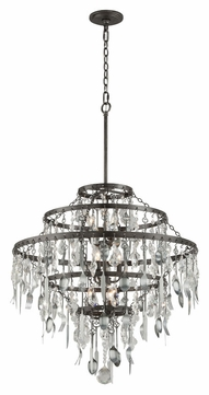 Troy f3809 bistro graphite finish with antique pewter flatware 3025 troy f3809 bistro graphite finish with antique pewter flatware 3025nbsp wide lighting chandelier aloadofball Images