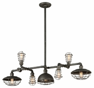 Troy F3819 Conduit Old Silver Finish 17.75  Wide Island Lighting
