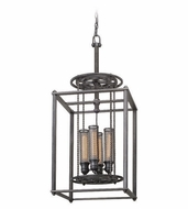 Troy F3834 Atlas Retro Aged Pewter Finish 16.5  Wide Hanging Lamp