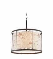 Troy F4027 Catch N Release Nautical 30 Wide Drum Hanging Pendant Lighting