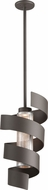 Troy F4264 Vortex Modern Bronze With Painted Galvanized LED Hanging Lamp