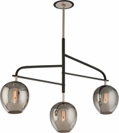 Troy F4299 Odyssey Hand Worked Wrought Iron Flush Mount Light Fixture