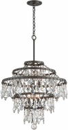 Troy F4317 Meritage Hand Worked Wrought Iron Hanging Pendant Lighting