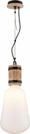Troy F4553 Fulton Hand Carved Wood And Wrought Iron Pendant Hanging Light