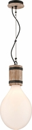 Troy F4556 Fulton Hand Carved Wood And Wrought Iron Drop Ceiling Lighting