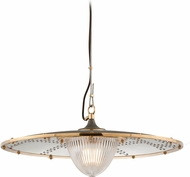 Troy F4706 Fly Boy Hand Worked Iron Brass And Aluminum 26 Drop Ceiling Light Fixture