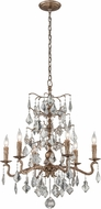 Troy F4744 Siena Hand Worked Iron And Cast Aluminum Hanging Chandelier
