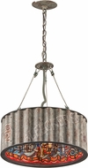 Troy F4764 Street Art Hand Worked Wrought Iron Drum Drop Ceiling Lighting