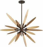 Troy F5276 Dragonfly Modern Bronze With Satin Leaf Small Drop Lighting