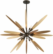 Troy F5277 Dragonfly Contemporary Bronze With Satin Leaf Medium Drop Ceiling Lighting