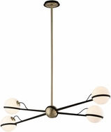 Troy F5307 Ace Modern Textured Bronze With Brushed Brass Halogen Island Lighting