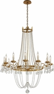 Troy F5367 Viola Traditional Distressed Gold W/ B Large Chandelier Lighting