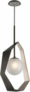 Troy F5534 Origami Contemporary Graphite With Silver Leaf LED Medium Pendant Light Fixture