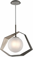 Troy F5536 Origami Contemporary Graphite With Silver Leaf LED Hanging Pendant Lighting