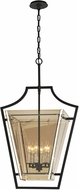 Troy F5596 Domain Hand-Worked Iron With Polished Chrome Detail Medium Foyer Light Fixture