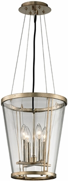 Troy F5844 Trapeze Contemporary Champagne Silver Leaf Foyer Light Fixture