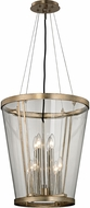Troy F5848 Trapeze Modern Champagne Silver Leaf Foyer Lighting Fixture