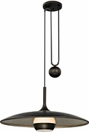 Troy F5866 Alchemy Contemporary Vintage Bronze And Champagne Silver Leaf LED 30  Hanging Lamp