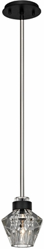 Troy F5885 Faction Modern Forged Iron And Polished Nickel Mini Hanging Light