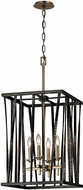 Troy F5894 Bastille Contemporary Pompeii Silver And Silver Leaf 16  Entryway Light Fixture