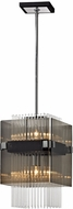 Troy F5904 Apollo Modern Dark Bronze Polished Chrome Mini Pendant Lighting Fixture
