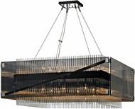 Troy F5907 Apollo Contemporary Dark Bronze Polished Chrome 34.5  Pendant Hanging Light