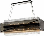 Troy F5908 Apollo Modern Dark Bronze Polished Chrome Island Lighting