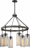Troy F5916 Union Square Modern Graphite Lighting Chandelier