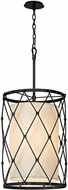 Troy F5944 Palisade Modern Aged Pewter Drum Hanging Light Fixture